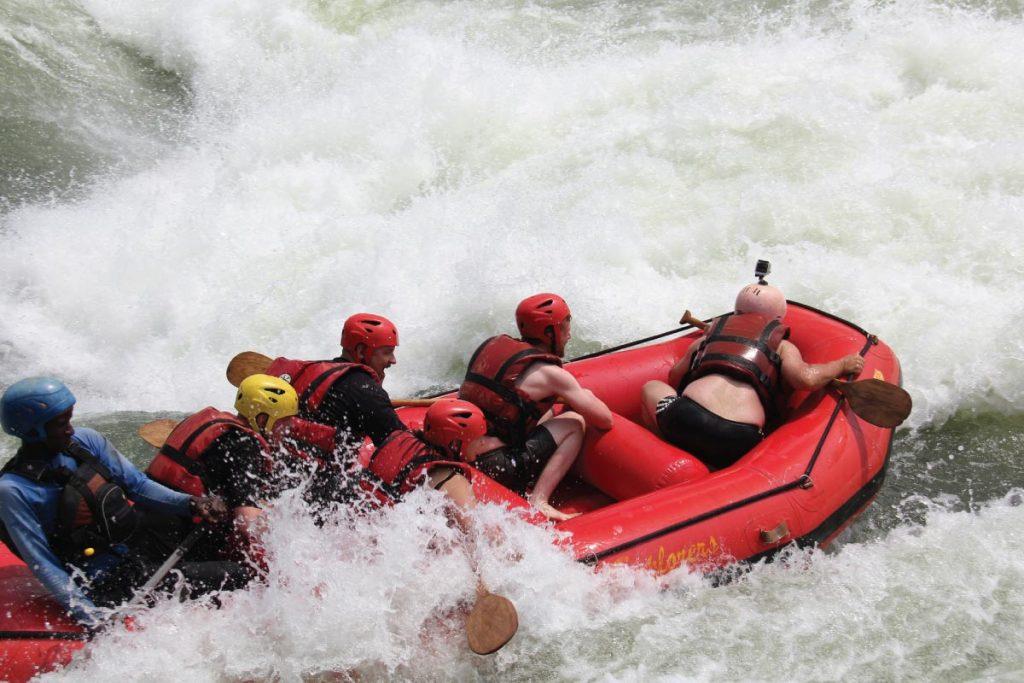 whitewater rafting in Jinja Uganda